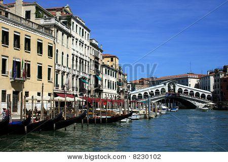 Venice, Canal Grande And The Rialto Bridge