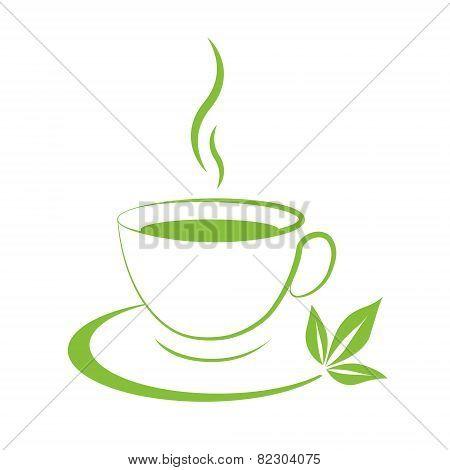 Tea Cup Icon Green