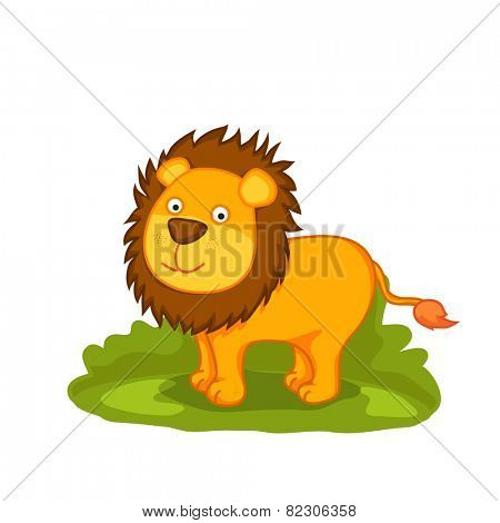 Cute cartoon of lion.
