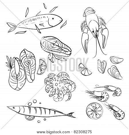 Seafood set.