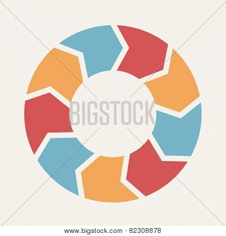 Circular infographic template for cycling diagram, graph, presentation and round chart.