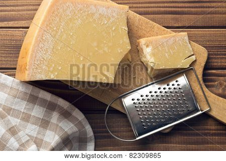 the cheese grater and parmesan