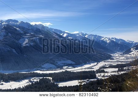Mountain Landscape In Austrian Alps