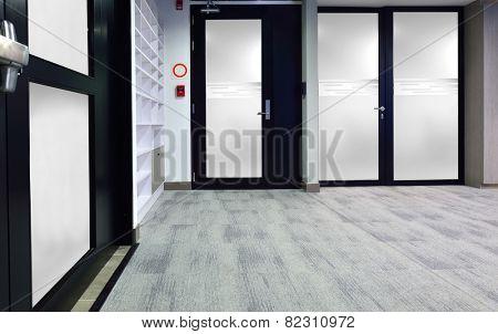 Lobby corridor.