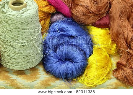 Colorful Raw Silk Thread