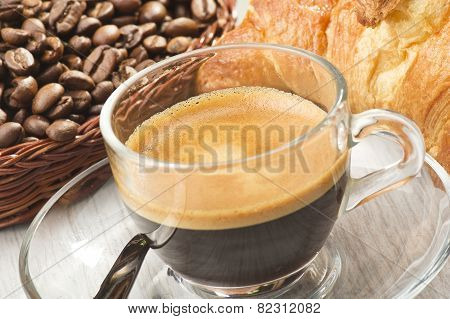 coffee in glass cup