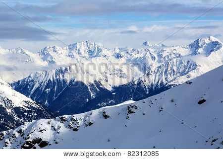 Mountain Landscape In The Austrian Alps