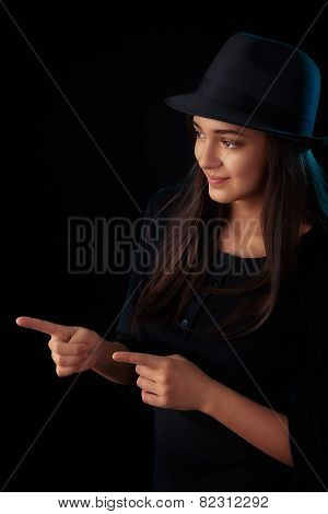 Fedora Teen Girl Fashion Portrait