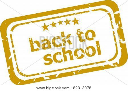 Back To School Stamp Isolated On White Background
