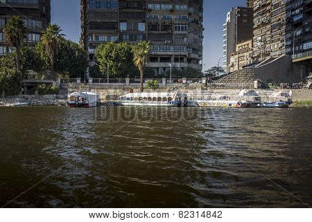 River Taxis On The River Nile
