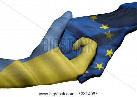 Handshake Between Ukraine And European Union