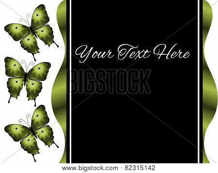 Three Green Butterflies Presentation Slide Background