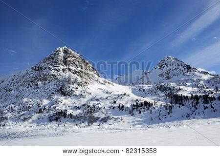Mountain Landscape In The Austrian Alps
