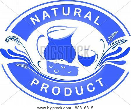 The emblem of the natural product. Dairy farm product logo labels.