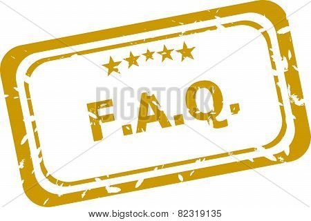 Faq Stamp Isolated On White Background