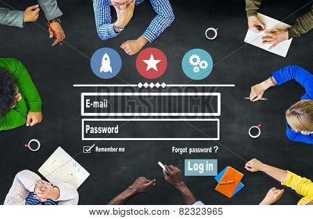Log in Security Username Password Protection Privacy Concept