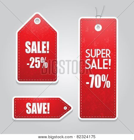 Red price tags set