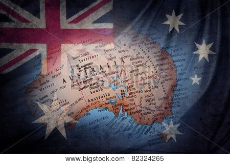 Australian flag and globe composite