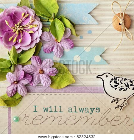 scrap booking greeting card details