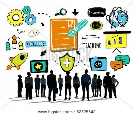 Business People Training Communication Ideas Aspiration Concept