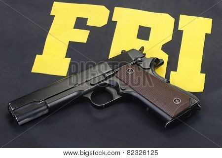 Colt Government M1911 Handgun On Fbi Uniform