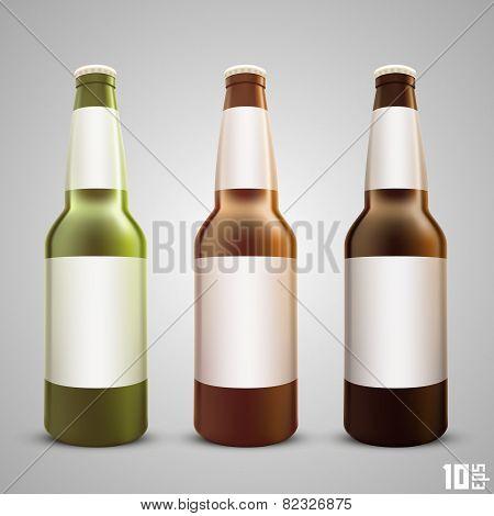 Beer bottle set color