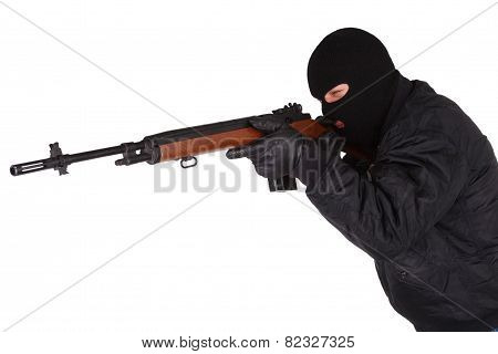 Robber With M14 Rifle
