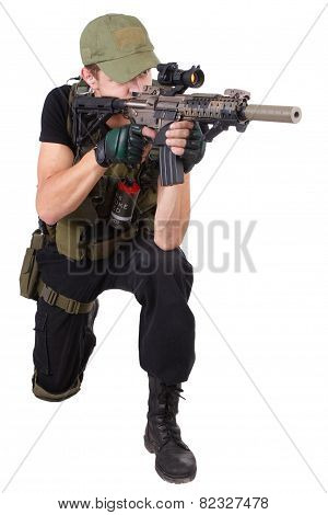 Mercenary With M4 Rifle