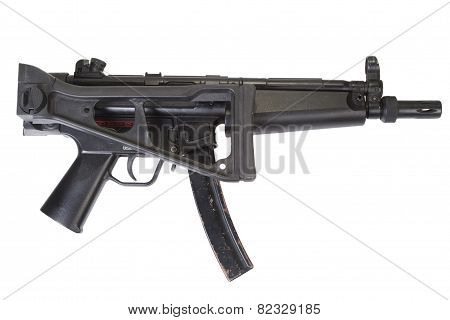9mm submachine gun isolated on white background