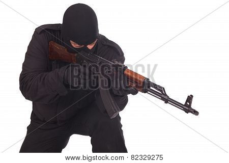 Man With Ak 47