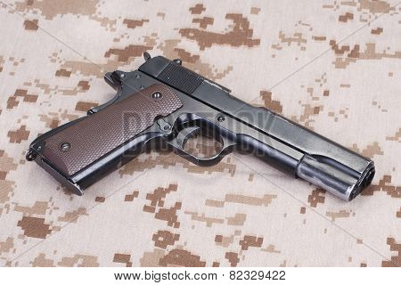 Handgun On Us Marines Camouflage Uniform