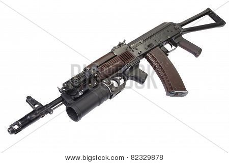 AK with grenade launcher