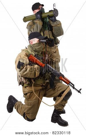 Mercenaries With Ak 47 And Rocket Launcher