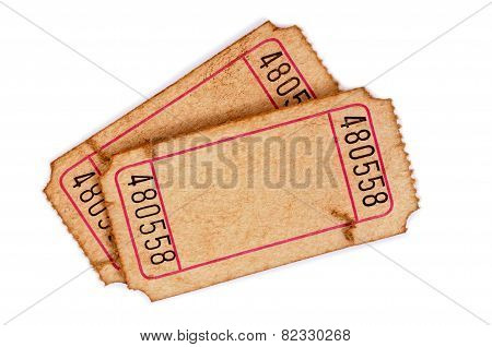 Stained Blank Admission Tickets