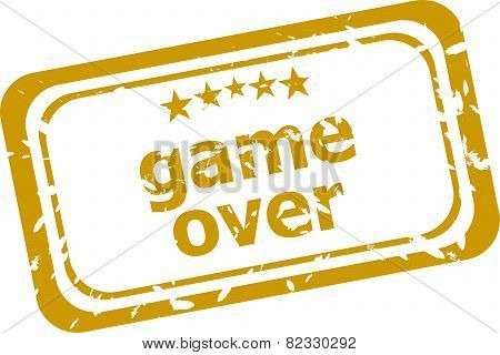 Game Over Stamp Isolated On White Background