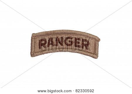 Us Army Ranger Badge Isolated