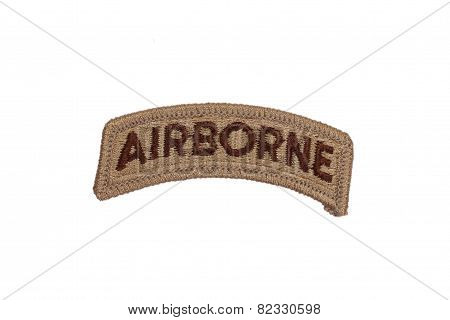 Us Army Airborne Badge Isolated