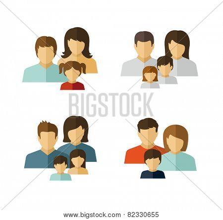 Family avatar icons