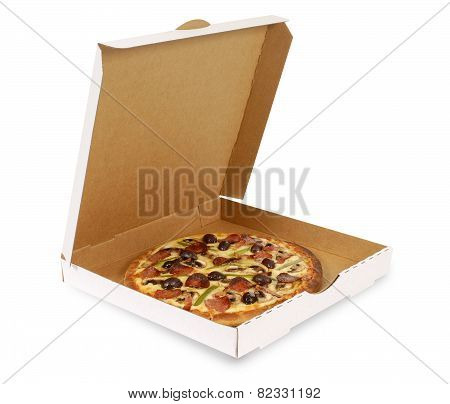 Pizza In Plain White Box