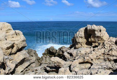 Seascape & boulders