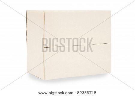 Oblong Cardboard Box On Side