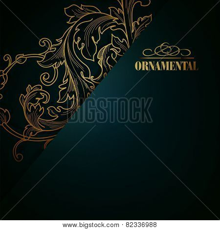 Beautiful elegant background with lace floral ornament and place for text. Design elements, ornate background.
