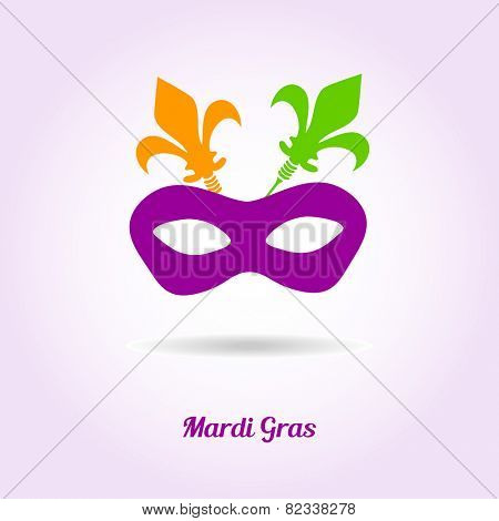 Mardi gras mask. Vector card or invitation design.