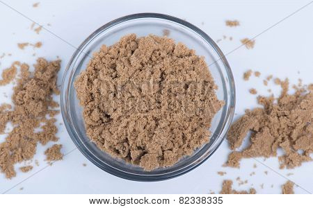 Brown Sugar in a Clear Bowl
