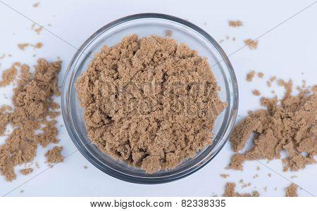 Brown Sugar in a Clear Bowl
