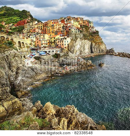 Manarola - beautiful village in Cinque terre, Liguria, Italy