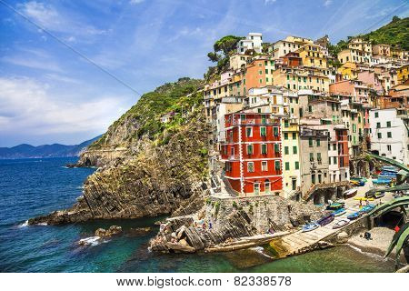 Riomagiore- beautiful village in Cinque terre, Liguria, Italy