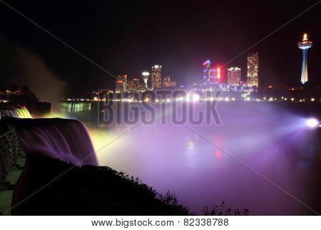 Niagara's Nightly Glowing Mist