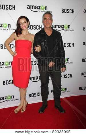 LOS ANGELES - FEB 3:  Annie Wersching, Titus Welliver at the