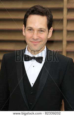 WEST HOLLYWOOD - MAR 2:: Paul Rudd at the 2014 Vanity Fair Oscar Party on March 2, 2014 in West Hollywood, California